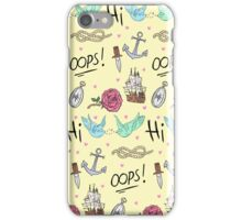 Larry Stylinson Complimentary Tattoo Pattern iPhone Case/Skin
