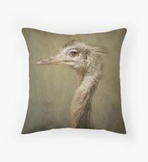 Portrait of a Rhea.. Throw Pillow