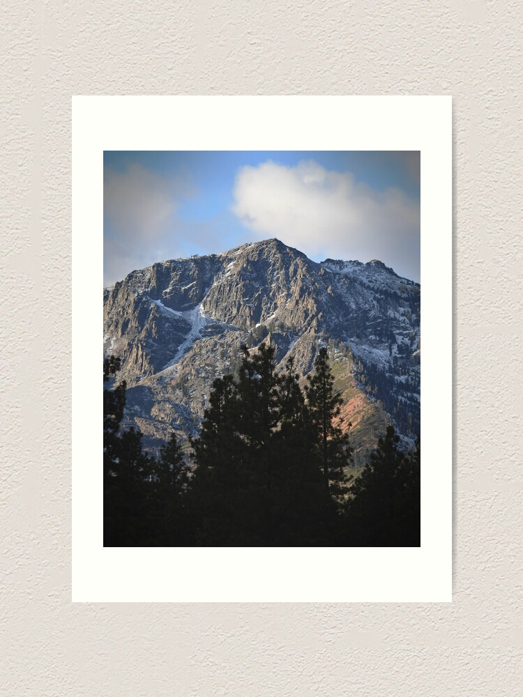 Alternate view of Mount Tallac Before the Storm Art Print