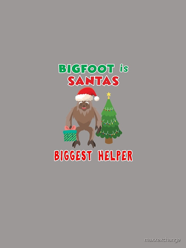 Bigfoot Sasquatch Yeti Santa Funny Christmas Gift. by maxxexchange