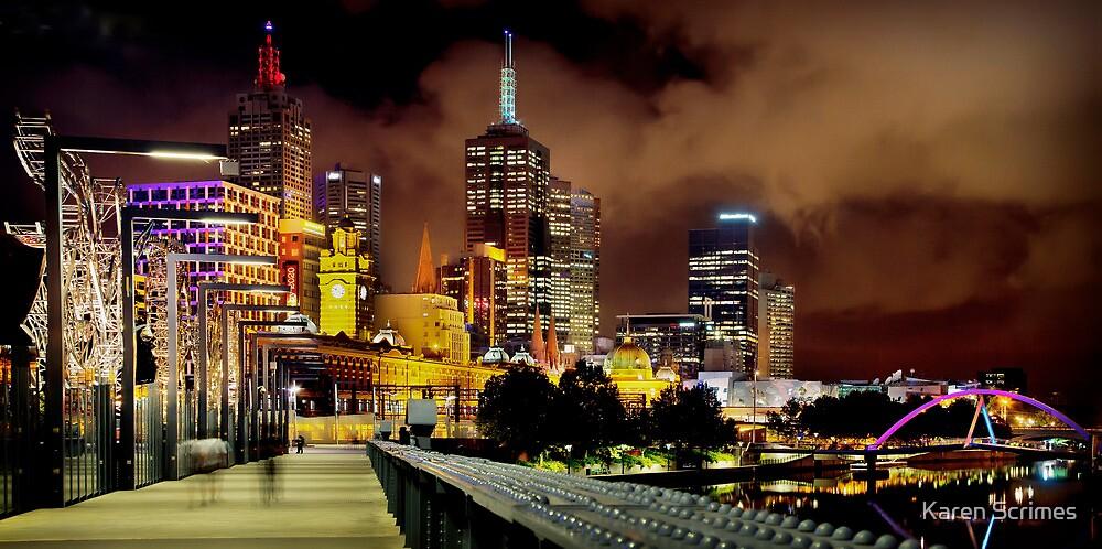 Melbourne Cafe' Latte' by Karen Scrimes