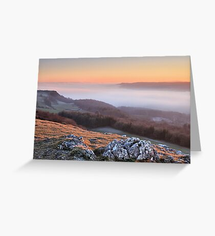 Scout Scar, Kendal - Temperature inversion Greeting Card