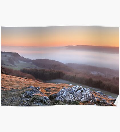 Scout Scar, Kendal - Temperature inversion Poster