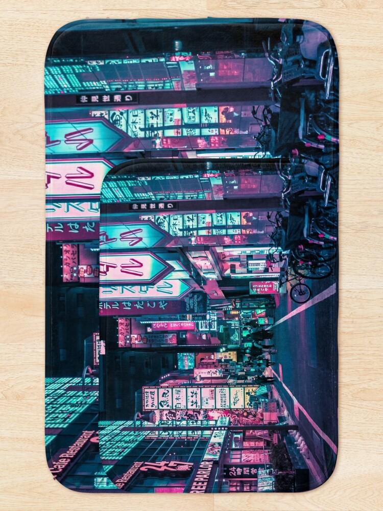 Alternate view of Tokyo - A Neon Wonderland Bath Mat