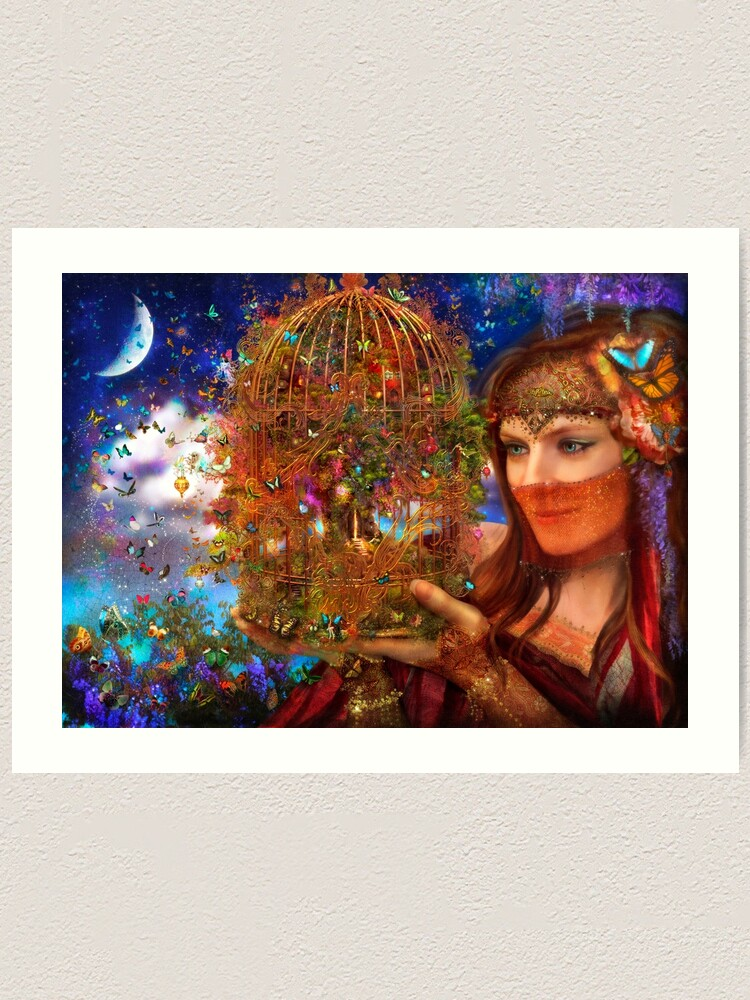 Alternate view of Her Butterfly Fairytale Art Print
