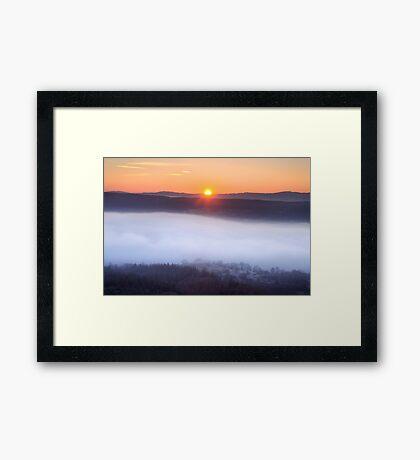 The inevitable sunset Framed Print