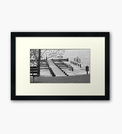 River in October Framed Print