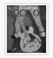 Rock On Tee Sticker
