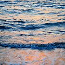 Sea and sunset by richard  webb