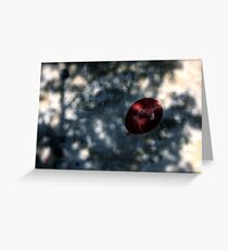 A Red Thought in your Blue Dreams Greeting Card