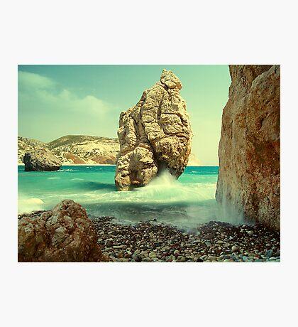 Aphrodite Rock, Cyprus Photographic Print