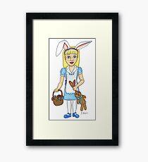 Bunny Girl Framed Print