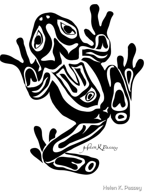 Northwest Coast Art Frog Stickers By Helen K Passey
