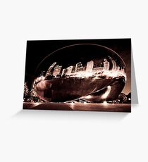 Chicago Skyline in the Bean Greeting Card