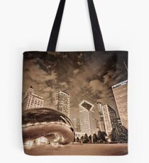 Chicago Skyline by night Tote Bag