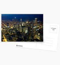 Skyline of Chicago by night Postcards