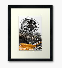 Yellow Taxi in New York City Framed Print
