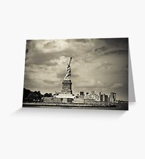 Statue of liberty in New York City Greeting Card