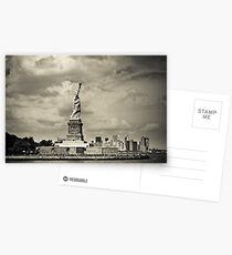 Statue of liberty in New York City Postcards