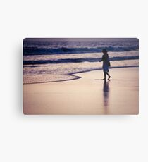 person on the beach in Los Angeles Metal Print