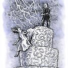 The Wedding is Off: Frankenstein Wedding Cake Disaster Artwork by Stephanie Smith