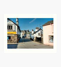 Main Street Hawkshead Cumbria Art Print