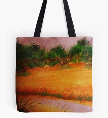 Country side, watercolor Tote Bag