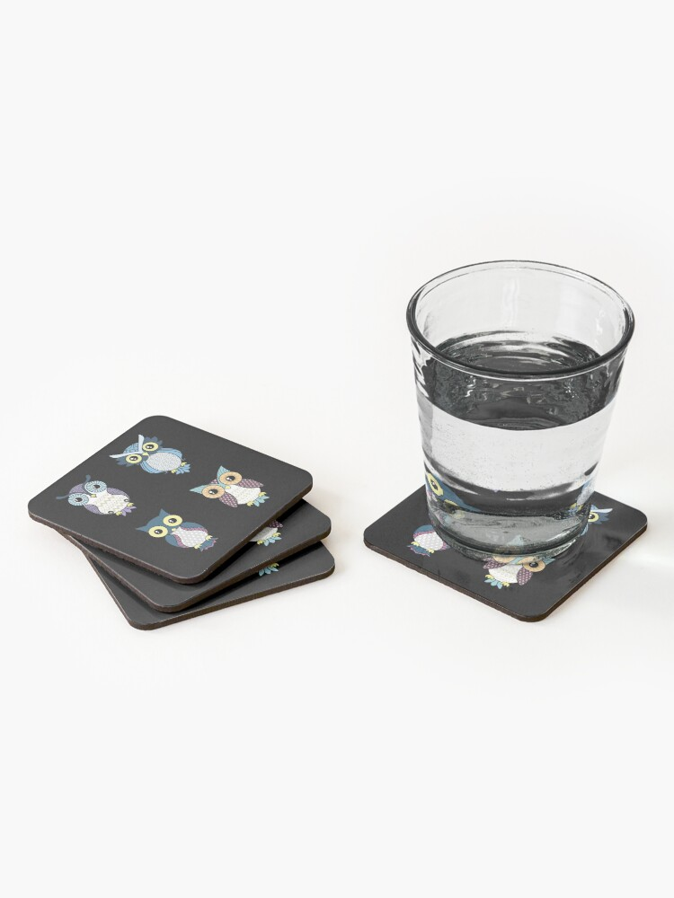 Alternate view of Owl pattern Coasters (Set of 4)