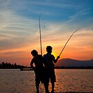 On the Kampot River, Cambodia by Rob Dougall