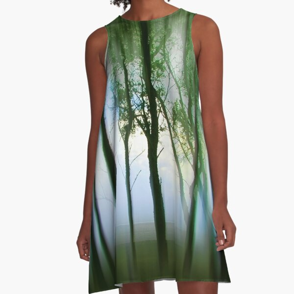 Morning Tree Silhouettes A-Line Dress