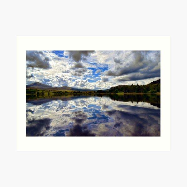 Water Reflections- Loch Rannoch-Highlands of Scotland. Art Print