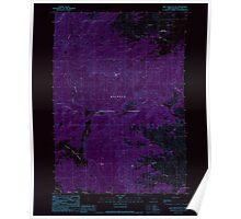 USGS Topo Map Oregon Rail Creek Butte 281216 1990 24000 Inverted Poster