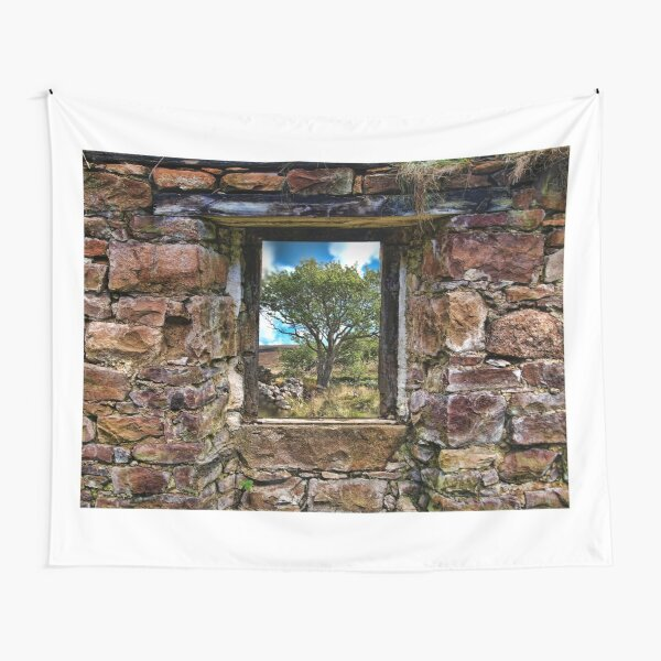 Cottage Window Tapestry
