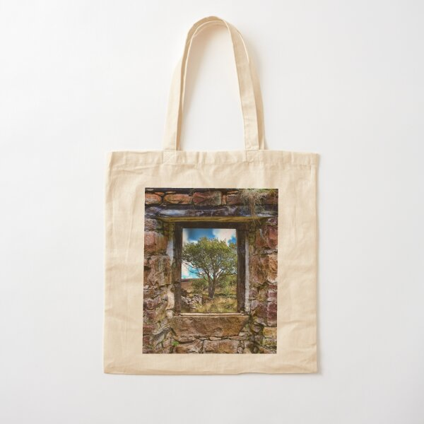 Cottage Window Cotton Tote Bag