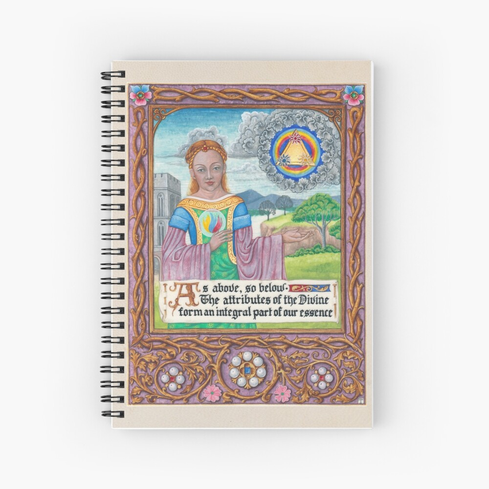 Medieval Illumination - As Above so Below  Spiral Notebook
