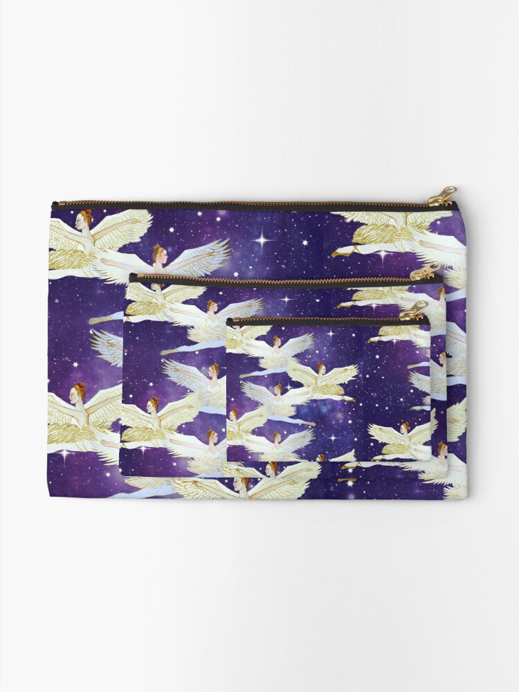 Alternate view of Christmas angels from the Nutcracker ballet Zipper Pouch