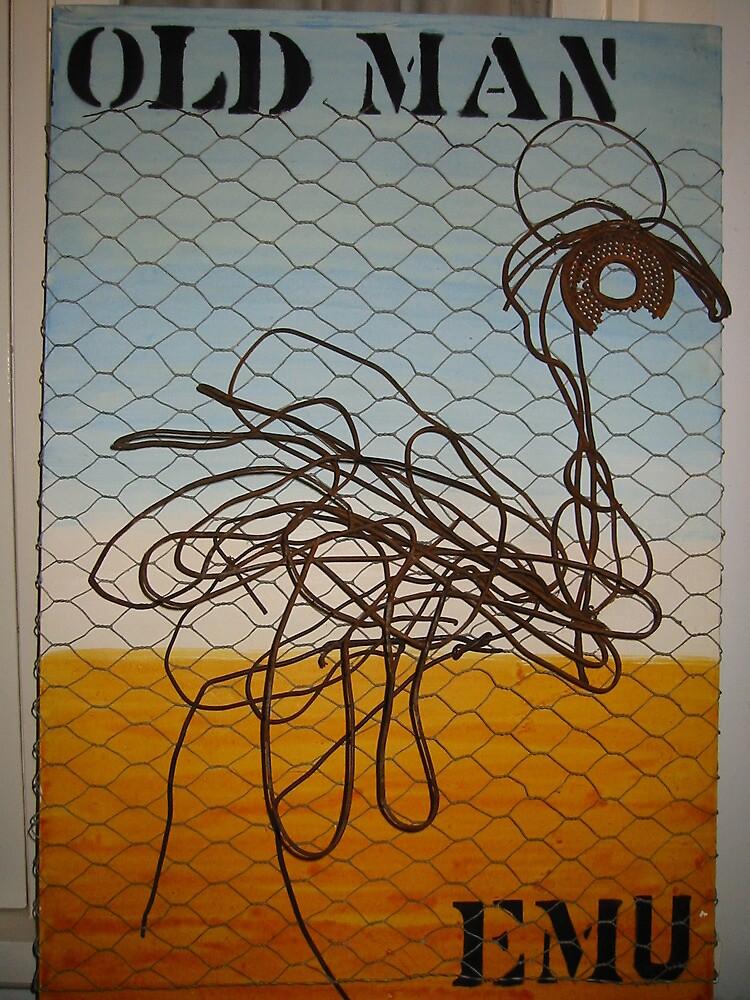 Old Man Emu - 2D Wire Emu  by SusanLawrance