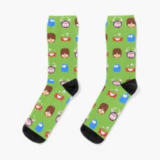 Fosters Home for Imaginary Friends - pixel pattern Socks