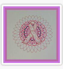 Breast Cancer Ribbon Mandala Sticker
