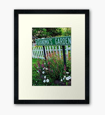 Grandma's Garden Framed Print