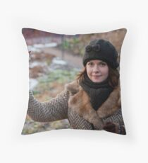 Wife in Botanic Garden Throw Pillow