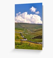 Yorkshire Dales and Dry Stone Walls Greeting Card