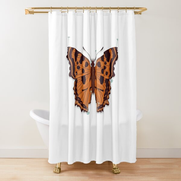 Butterfly: Pinned down Shower Curtain