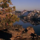 Moon over Crater Lake by peterchristian