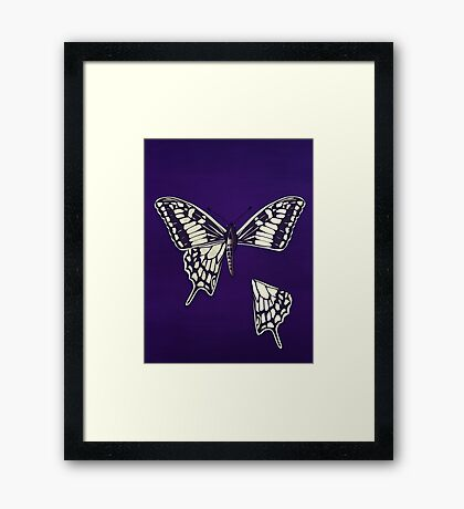 Butterfly: Dismembered Framed Print