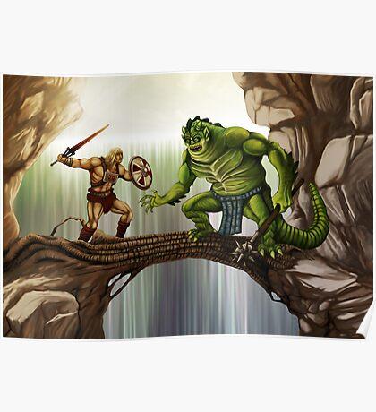 He-Man versus Whiplash Poster