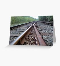 on the right track?? Greeting Card