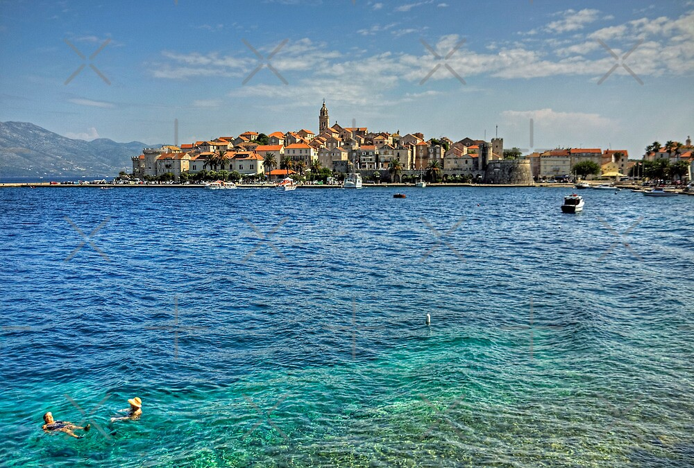 Swimming in Korčula by Tom Gomez
