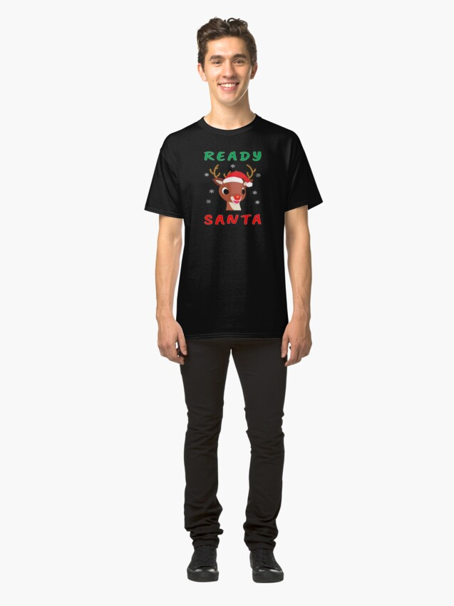 Alternate view of Christmas Rudolph Red Nose Reindeer Kids Gift. Classic T-Shirt