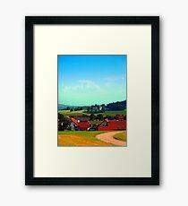 Peaceful farmland on a sunny afternoon Framed Print